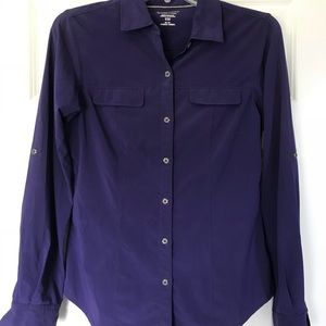 Exofficio Purple Button Down Travel Shirt
